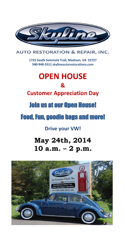 Open House and Customer Appreciation Day! May 24th from 10 til 2